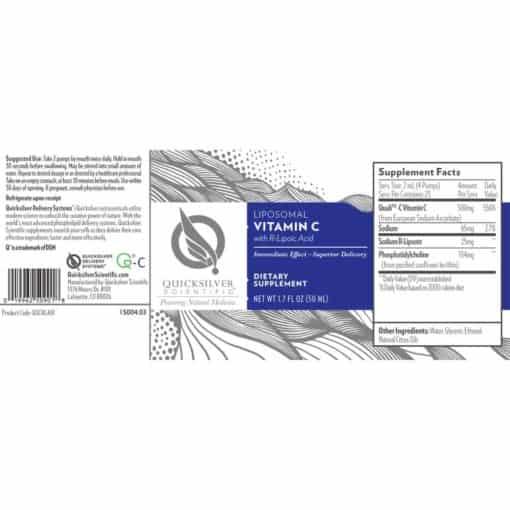 Vitamin C with R-Lipoic Acid Liposomal FACTS