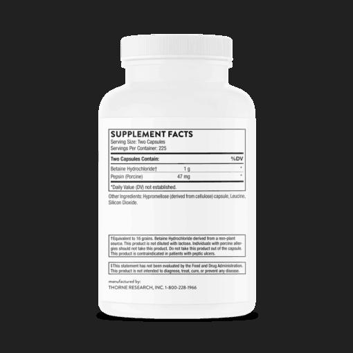 Betaine HCL & Pepsin - 450 caps