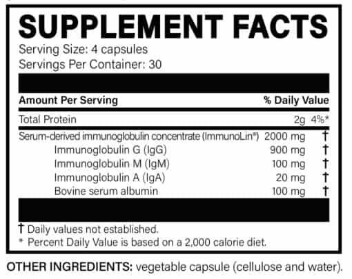 MegaIgG2000 Supplement Facts